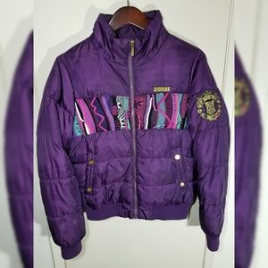 Women Coogi Puffer Purple Jacket Size Large